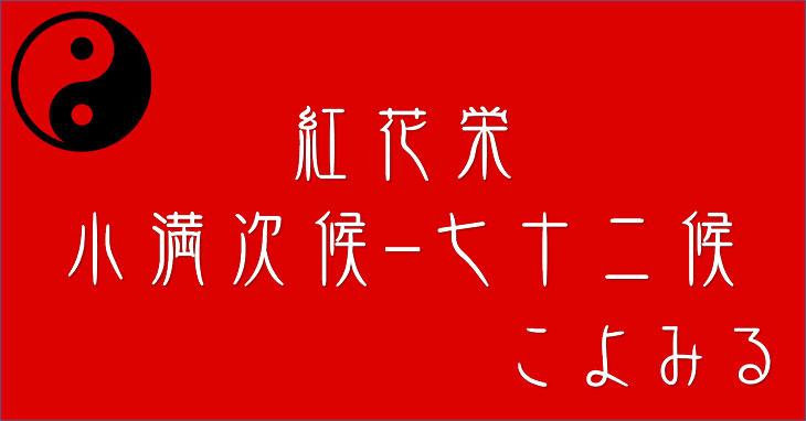 紅花栄(べにばなさかう)-小満-次候-七十二候-第二十三候